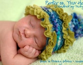 Knitting Pattern Baby Hat Photo Prop Party on Your Head Hat Baby Girl or Boy Photo Shoot Prop or Shower Gift - The ORIGINAL by TrickyKnits