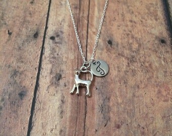 Cat initial necklace - cat jewelry, cat pendant, gift for cat lover, animal jewelry, pet cat necklace, feline jewelry, silver cat necklace