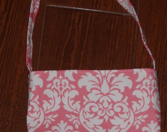 Petal pink dandy damask toddler purse