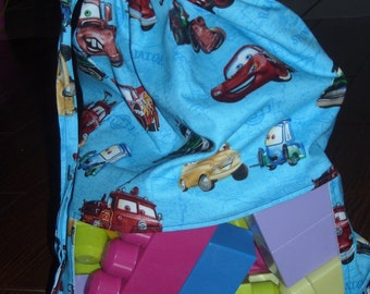 Cars peek a boo toy sack