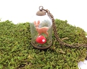 Glass dome terrarium necklace