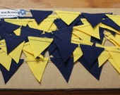 Teeny Tiny Blue and Yellow Bunting Michigan Colors 14 ft