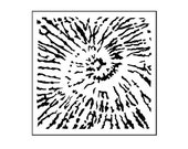 Mini Tie Dyed 6x6 Crafters Workshop Stencil (194S) - for cookies, cakes, cardmaking, mixed media, paper-arts, chalking, scrapbooks