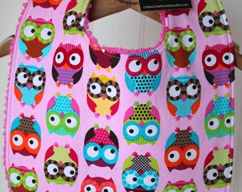 Baby Bib...goo goo eye owls
