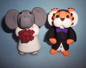 Alabama Clemson Wedding Cake Toppers