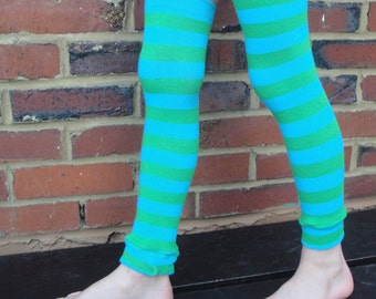 Striped Childrens Leg Warmers - Arm Warmers, Leggings for Infant, Baby, Toddler, Kid, Tween - Baby Shower or Birthday Gift for Boy or Girl