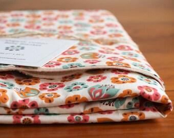 Pink Baby Blanket, Organic Cotton Baby Blanket Gift, Pretty Receiving Blanket Baby Girl, New Mom and Newborn Baby Blanket Gift, TULIP TOSS
