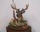 Deer Cake Topper, Groom's Cake Topper, Wedding Deer Cake Topper, Hunting Cake Topper, Rustic Birthday Cake Topper, HIs Cake Topper