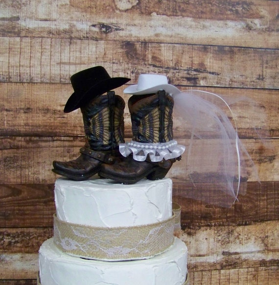 country wedding cake toppers rustic cake topper western cowboy boots cake topper wedding 3118
