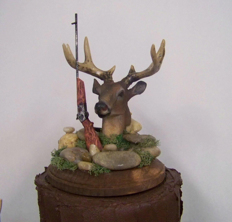 Deer Cake Topper Groom s Cake Topper Wedding Deer Cake
