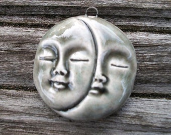 Ceramic Sun and Moon Pendant