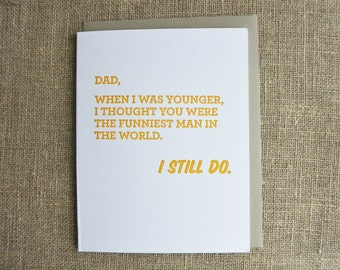 Letterpress Father's Day Card - Funniest Man