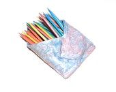 Pastel Wall Pocket Ceramic Toothpick Holder Kitchen Stoneware Pottery Blue Pink