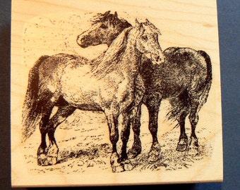 Horses - rubber stamp WM P4