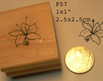P57 small flower rubber stamp