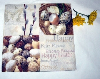 2 Napkins  from Holland eggs in nest