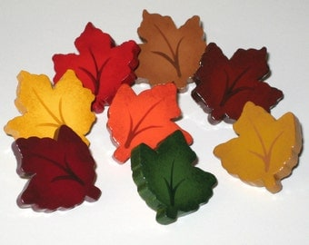 Autumn Maple Leaf Fall Leaves Push Pins for Bulletin Board