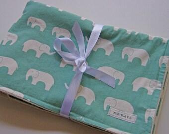CLOSEOUT SALE -Organic Baby Blanket - Teal Ellie