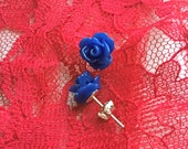 Twin Peaks Fire Walk with Me Blue Rose Earrings