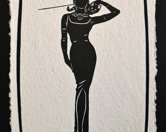 Sale 20% Off // BREAKFAST AT TIFFANY'S Papercut - Hand-Cut Silhouette // Coupon Code SALE20