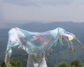 Blueberry Brulee ... hand painted silk belly dance veil