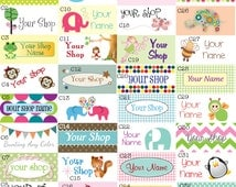 80 Fabric Labels - Sew-On Fabric Labels - Uncut - Free Customization and Proof Using Any Premade Design Shown OR Your Print-Ready Design
