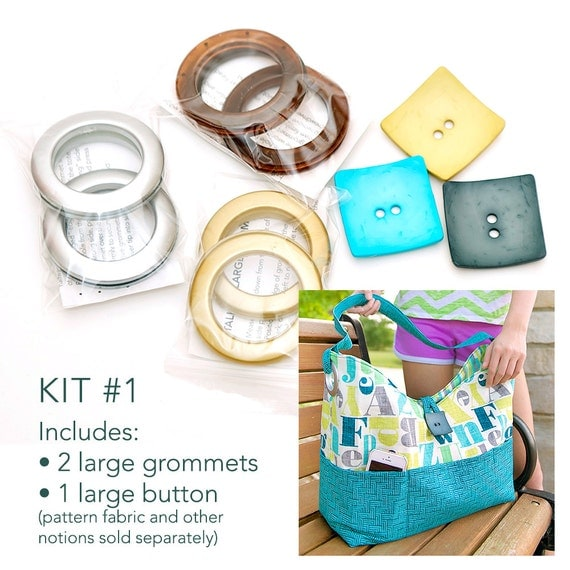 Kit #1 for the Sun & Surf Tote with Large Grommets and Button (pattern sold separately)
