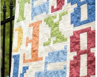 Typography 101 Quilt Pattern by Carolina Patchworks