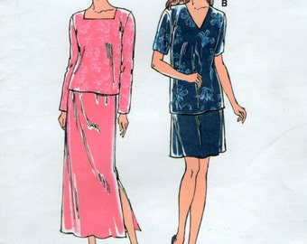 Easy 90s Skirt and Top Sewing pattern 3 sizes XS S M Kwik Sew 2653