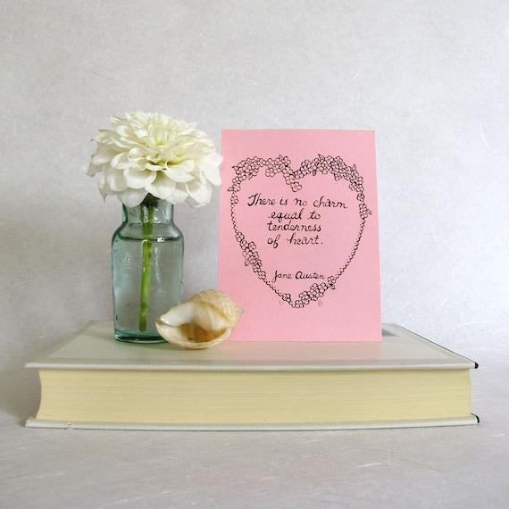 Jane Austen Art - Emma Quote - Regency Style Ink Drawing