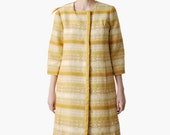Vintage 1960s Yellow Tapestry Coat