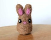 Needle Felted Bunny Rabbit Miniature - Made to Order - Great Easter Gift or Decor - Tiny Felt Bunny Rabbit - Felted Bunny Rabbit Art Doll