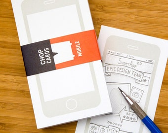 Chop Card Mobile (sketch cards for your mobile concepts)