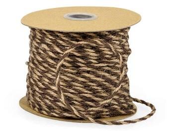 SALE Jute Twine • Chocolate & Natural Burlap Twine (50 Yards) Wholesale • Craft Supplies • DIY • Paper Craft • Rustic Jute Rope