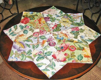 Quilted Floral Octagonal Table Centerpiece