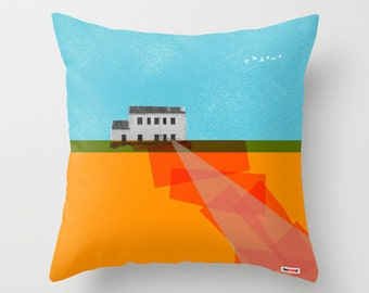 Nowhere house throw pillow cover - Decorative throw pillow cover - Colorful pillow cover - Art pillow case - Modern pillow cover