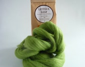 Grass Green merino roving, 25g (1oz) Lettuce Leaf, 21 micron, merino roving, merino tops, felting wool, needle felt wool, wet felting