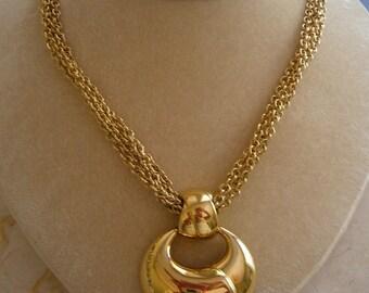 Vintage Monet (Signed) Eight Strand Pendant Necklace