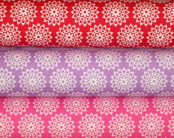 I Love Lace 1/2 Yard Fabric Bundle by Doodlebug Designs Inc. for Riley Blake LOVEY DOVEY 1.5 Yards Total