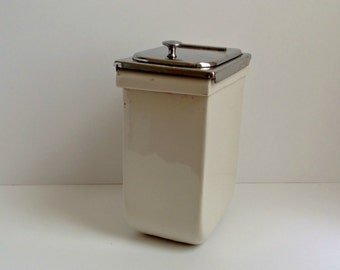 SALE vintage porcelain and stainless soda shop well