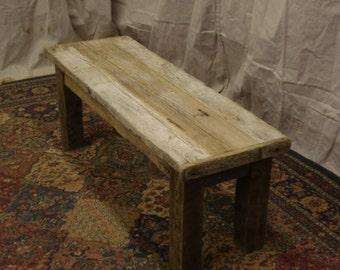 """Driftwood Bench (40"""" x 11"""" x 15"""" - 23""""H)"""