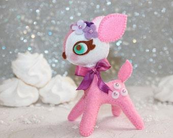 Rose Pink Petite - Bambi Passion - Felt Plush