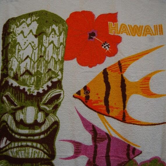 Hawaiian Beach Blanket: Hawaii Beach Towel 1960s Barth And Dreyfuss Phyllis