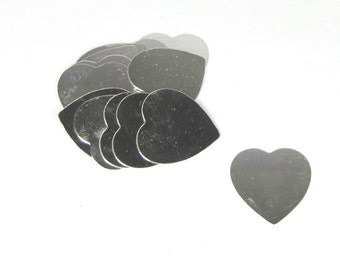 1 1/8 in. sterling heart 22 gauge a wow size for your stamping fun