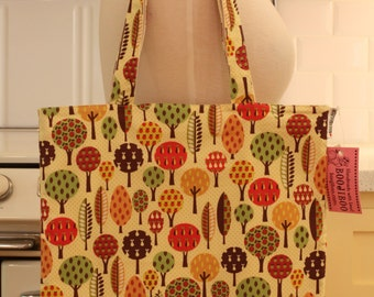 Book Bag Tote Purse - Trees