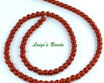100 Czech Glass Round Druk Beads Umber 4mm
