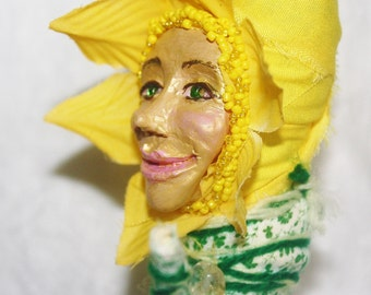 Cheerful Daffodil Spirit Doll