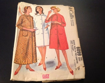 Vintage McCall's #6099 Pattern for Misses Size 12 Robe in Two Lengths