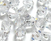 CLEARANCE Sale 100 Swarovski 5301 / 5328 3 mm Clear Crystal Bicone Beads