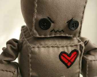 Scowly the Angry Plush Robot